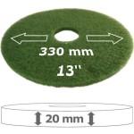 grünes Pad für Tellermaschine